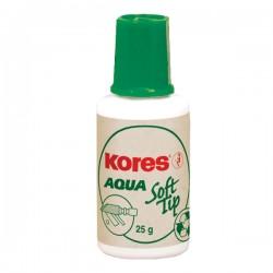 Fluid corector Kores Soft Tip Aqua, pe baza de apa, 20 ml