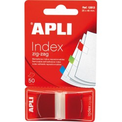 Index Apli Pop-Up rosu, 25 x 45 mm, 50 file