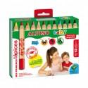 Creioane colorate, cutie carton, 12 culori/set, ALPINO Baby