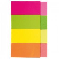 Index autoadeziv Kores, hartie, 20 x 50 mm, 4 culori x 50 file/culoare