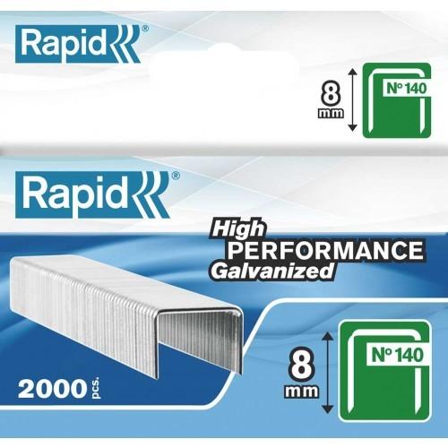 Capse RAPID 140/ 8, 2000 buc/cutie - pentru pistol de capsat RAPID