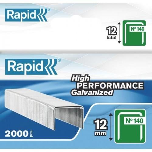 Capse RAPID 140/12, 2000 buc/cutie - pentru pistol de capsat RAPID