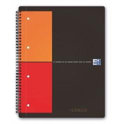 Caiet cu spirala A4 , OXFORD Int. Notebook, 80 file-80g/mp, 4 perf., coperta carton rigid - mate