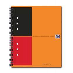 Caiet cu spirala A5 , OXFORD Int. Notebook, 80 file-80g/mp, 10 perf., coperta carton rigid - dictando