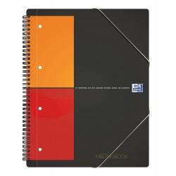 Caiet cu spirala A4 , OXFORD International Meetingbook, 80 file-80g/mp, 4 perf., coperta PP - mate