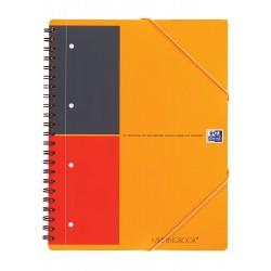 Caiet cu spirala A4 , OXFORD International Meetingbook, 80 file-80g/mp, 4 perf., coperta PP - dictando