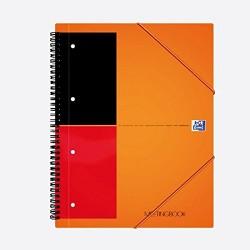 Caiet cu spirala A5+, OXFORD International Meetingbook, 80 file-80g/mp, 10 perf., coperta PP - dictando