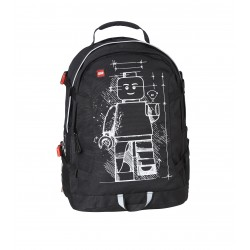Rucsac Tech Teen, LEGO Core Line - design negru Minifigure