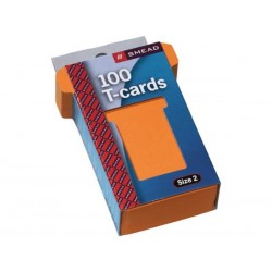 JALEMA T-cards, din hartie, 100buc/set, format 2 - (85 x 48mm, top 60mm) - orange