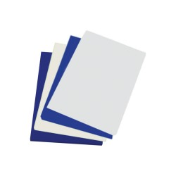 Coperti indosariere lucioase, A4, 250 g/mp, alb, 100 coli/cutie
