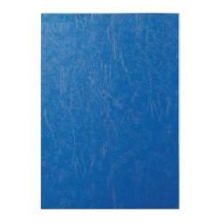 Coperti indosariere imitatie piele, A4, albastru, 100 coli/cutie