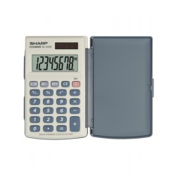 Calculator de buzunar, 8 digits, 105 x 64 x 11 mm, capac din plastic, SHARP EL-243S - gri