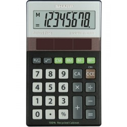 Calculator de buzunar, 8 digits, 117 x 70 x 21 mm, SHARP EL-R277BBK - gri/negru