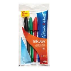 Pix fara mecanism Papermate Inkjoy 100C gel, 5 culori/set