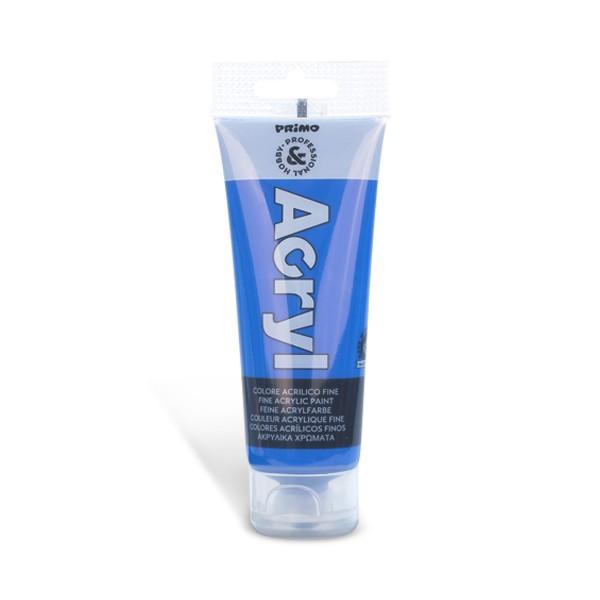 Tempera acrilica Primo 75 ml, albastru cobalt