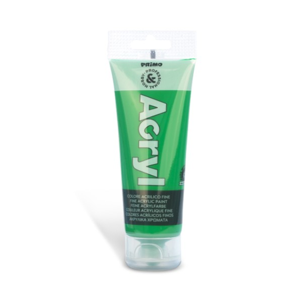 Tempera acrilica Primo 75 ml, verde deschis