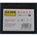 Suport PP water proof snap type, pentru carduri, 105 x 74mm, orizontal, 5 buc/set, KEJEA - negru