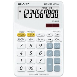 Calculator de birou, 10 digits, 149 x 100 x 27 mm, SHARP EL-M332BBL - gri/alb