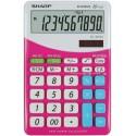 Calculator de birou, 10 digits, 149 x 100 x 27 mm, SHARP EL-M332BBL - gri/roz