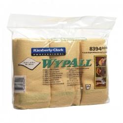 Lavete microfibra Kimberly-Clark Wypall, galbene, 6 bucati/pachet