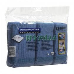 Lavete microfibra Kimberly-Clark Wypall, albastre, 6 bucati/pachet