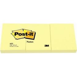 Notite adezive Post-it, 38 x 51 mm, 100 file, 3 bucati/set, galben