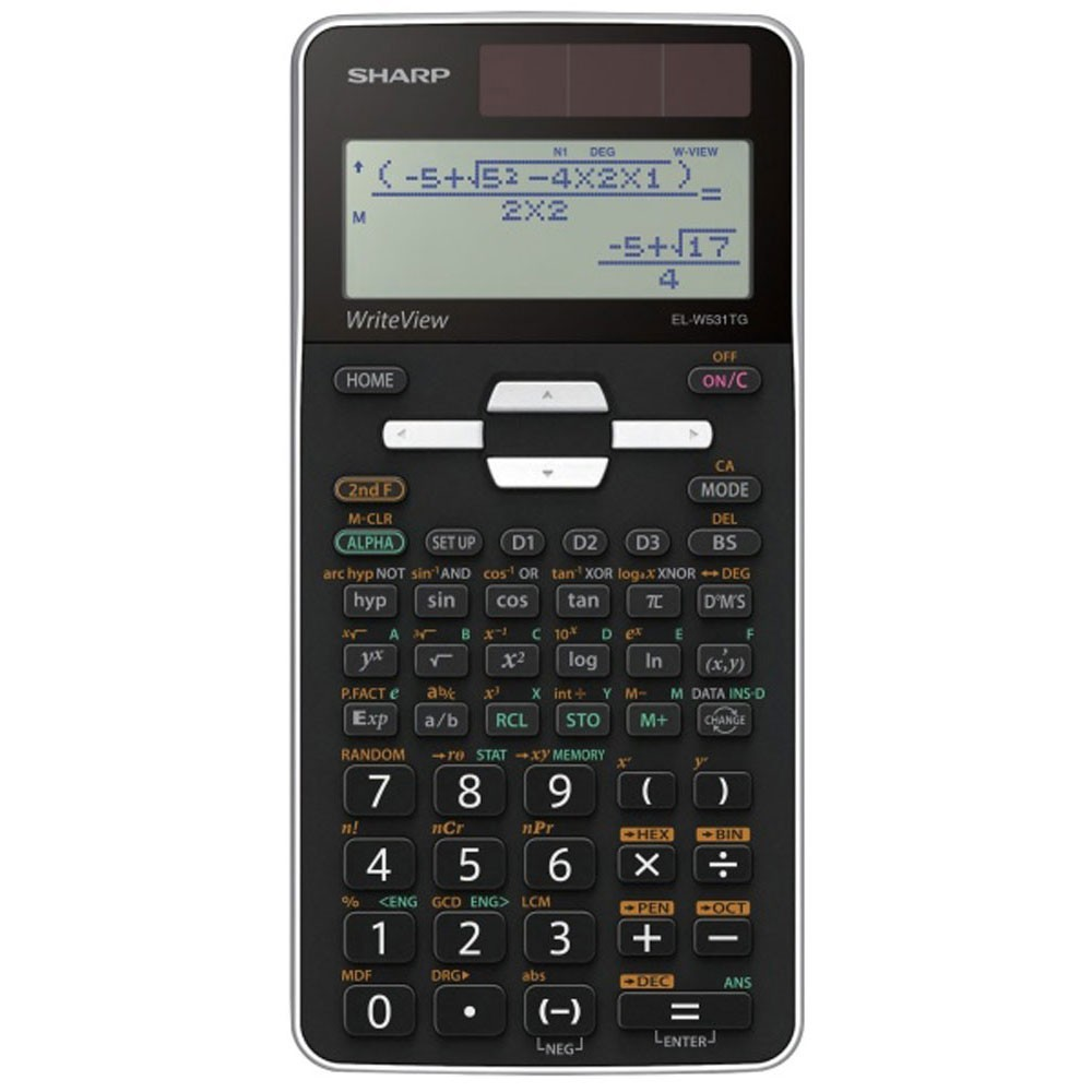 Calculator stiintific, 16 digits, 422 functiuni, 166x80x14 mm, dual power, SHARP EL-W531TGWH - alb