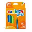 Creioane colorate, triunghiulare, 10 culori/cutie, CARIOCA Baby