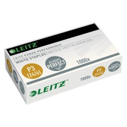 Capse LEITZ Power Performance 24/6 albe, 1000/cutie