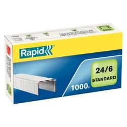 Capse Rapid Standard, 24/6, 2-20 coli, 1000 buc/cutie