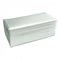 Rezerva prosoape pliate, 2 straturi, albe, 210 bucati/pachet, 15 pachete/bax