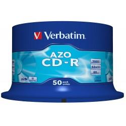 CD-R Verbatim AZO Crystal 52X 700MB 50PK Spindle