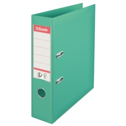 Biblioraft ESSELTE No. 1 Power, A4, plastifiat PP/PP, margine metalica, 75 mm - menta