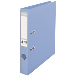 Biblioraft ESSELTE No. 1 Power, A4, plastifiat PP/PP, margine metalica, 50 mm - bleu