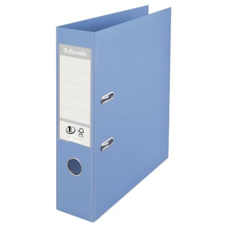 Biblioraft ESSELTE No. 1 Power, A4, plastifiat PP/PP, margine metalica, 75 mm - bleu