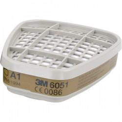 Set filtre 3M 6051 pentru vapori organici A1, compatibile cu masca Serie 6000