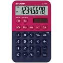 Calculator de buzunar, 8 digits, 119 x 75 x 17 mm, dual power, SHARP EL-760R-RB - rosu/bleumarin