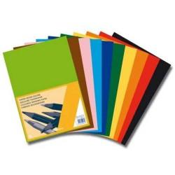 Carton color A4, 120g/mp - 500 coli/top, AURORA Raphael - 10 culori intense