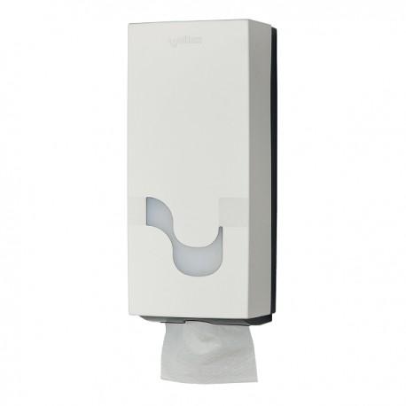Dispenser Celtex, Megamini, pentru hartie igienica intercalata, ABS, alb