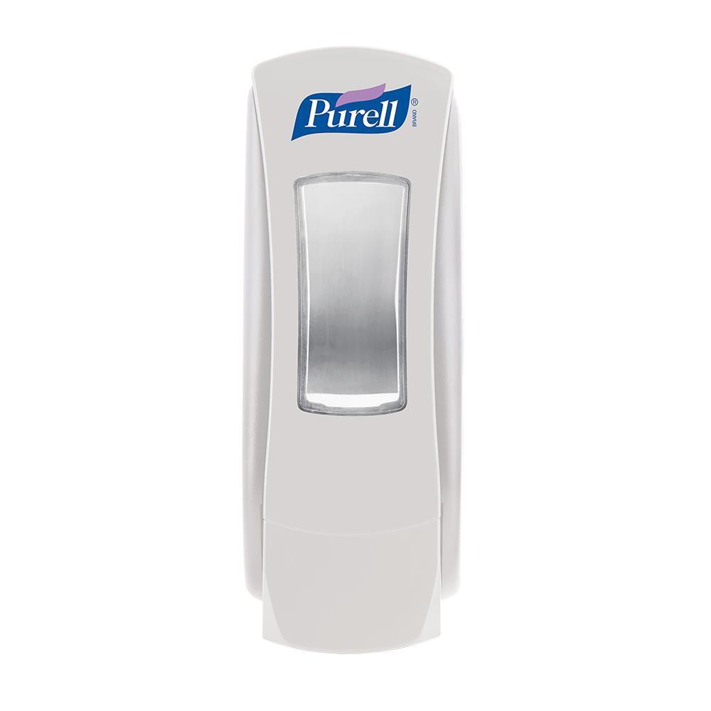 Dispenser Purell, ADX, manual, pentru gel dezinfectant, 700 ml, alb