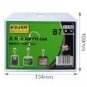 Buzunar PVC flexibil, pentru ID carduri, 128 x 91mm, orizontal, 5 buc/set, KEJEA - transparent