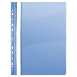 Dosar plastic PVC, cu sina si multiperforatii, 10 buc/set, DONAU - albastru