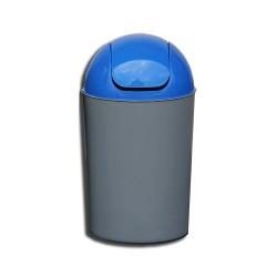 Cos Flip-Flap colectare selectiva, 12 litri, capac albastru