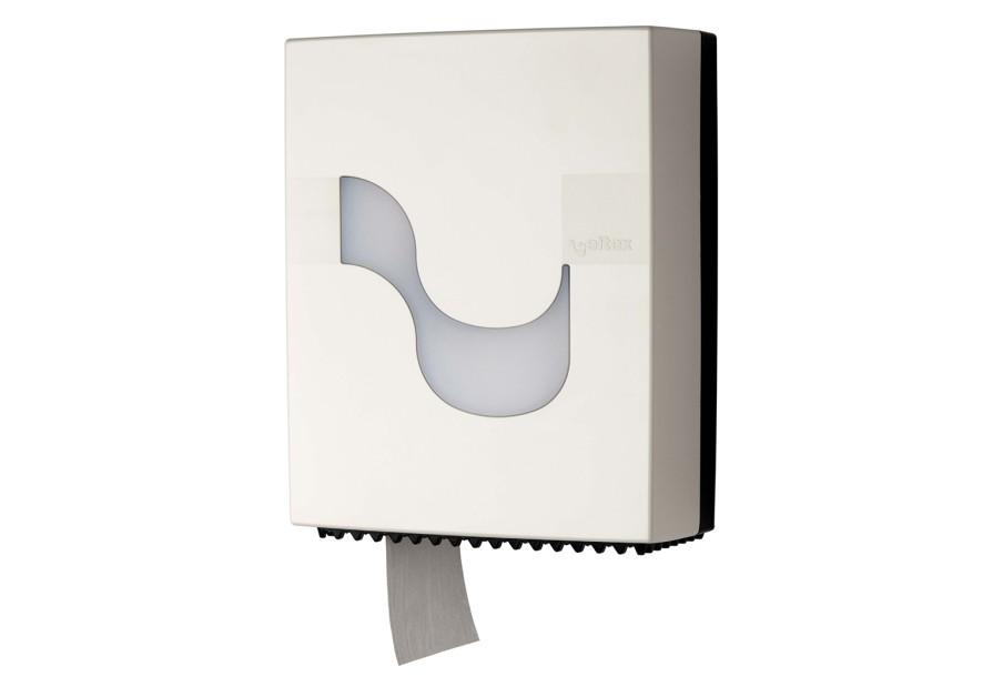 Dispenser Celtex, Megamini, pentru hartie igienica Mini Jumbo, plastic, alb