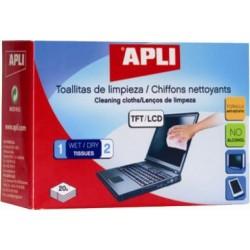 Servetele curatare ecran monitor Apli, 20 bucati/set