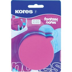 Notite autoadezive Kores cu forme pretaiate: idee, 250 file/bucata, diverse culori