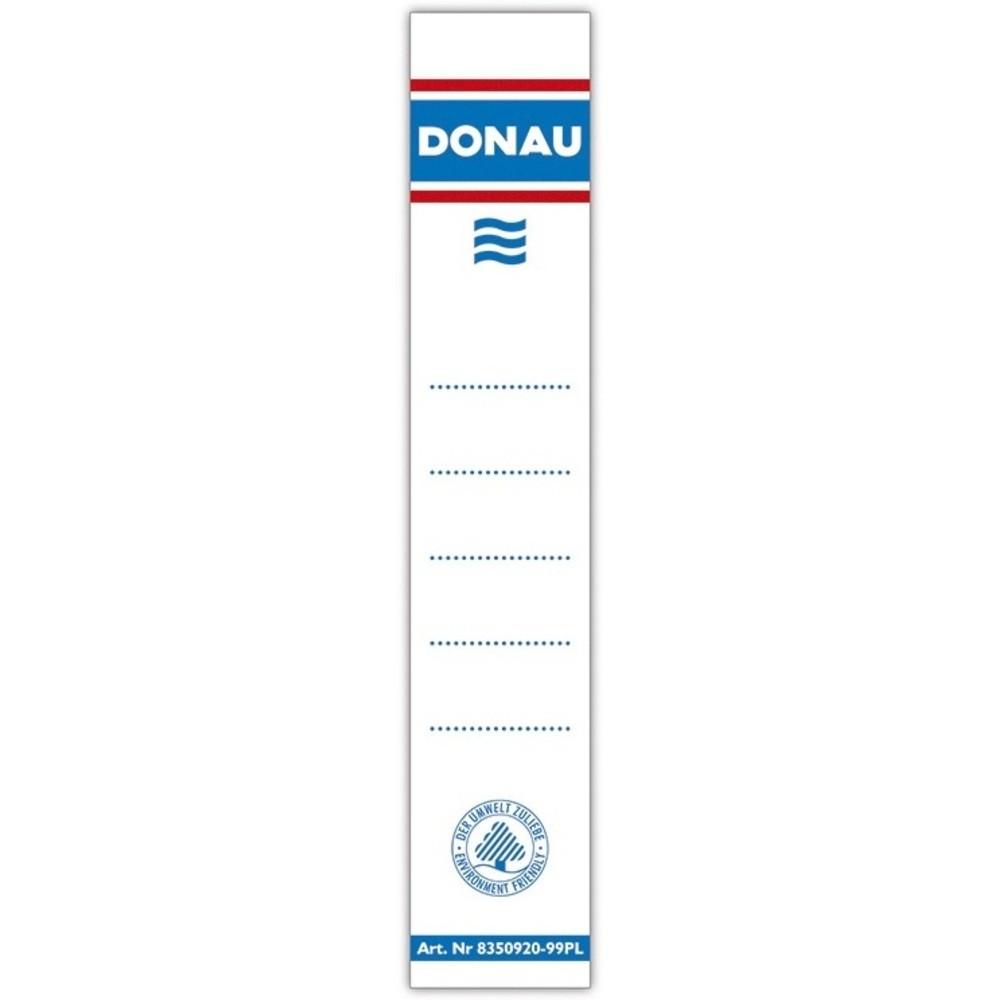 Etichete albe pentru biblioraft 50 mm , dubla fata, 20/set, DONAU