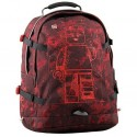 Rucsac Tech Teen, LEGO Core Line - design Minifigures Burgundy Camo