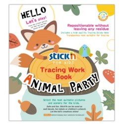 """Carte educativa Stick""""n Tracing Work Book - Animal Party"""