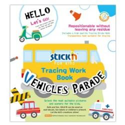 "Carte educativa Stick""n Tracing Work Book - Vehicles Parade"